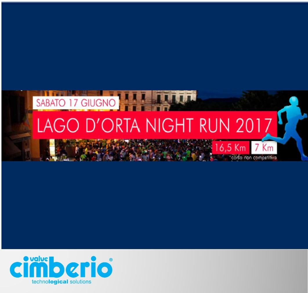 Sabato 17 Giugno i runner Cimberio alla Lago d'Orta Night Run: da segnare in calendario!